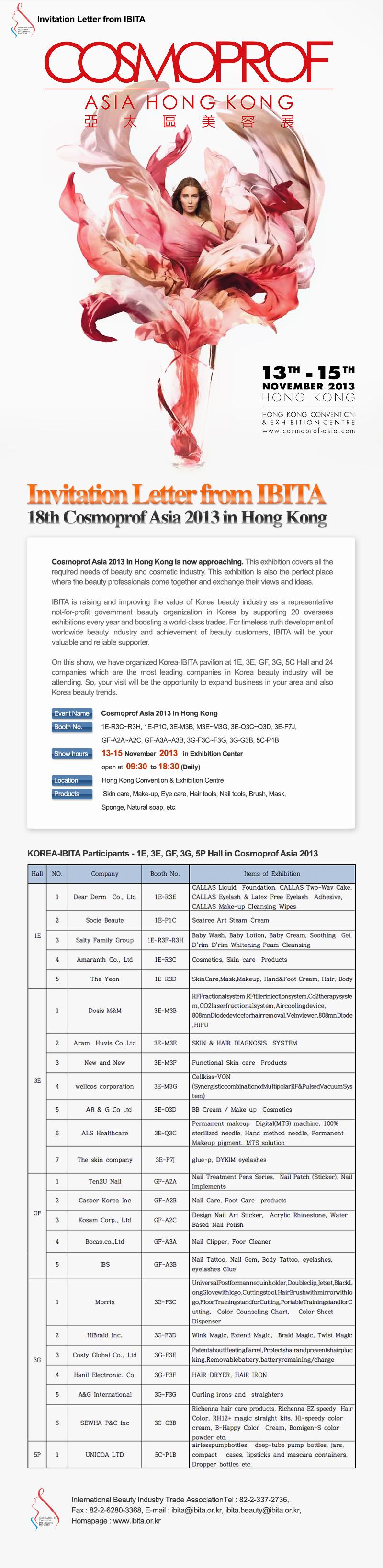 [Invitation letter] 18thCosmoprofAsia2013inHongKong
